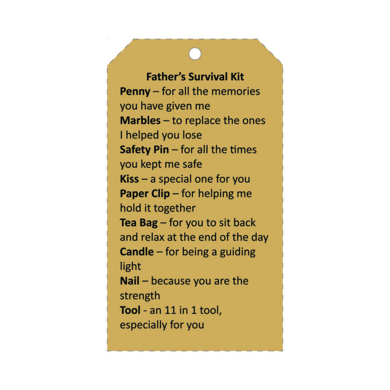 Father's Day Survival kit